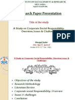 A Study on CSR - Overview, Issues & Challenges