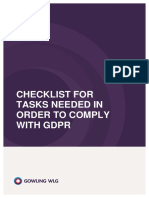 170630 Gdpr Checklist for Compliance