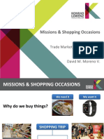 Missions & Shopping Occasions