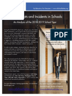 2018-2019 Violence threats and incidents in schools report