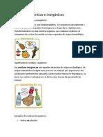 Residuos Orgánicos e Inorgánicos