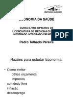 Aulas de Economia Para Mestrados Em Medicina-Eduardo Lourenço