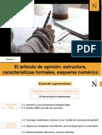 W5. El Artículo de Opinión- Estructura