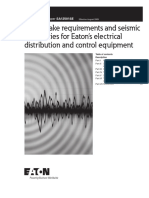 Earthquake Requirements and Seismic Capabilities for Eatons Electrical Distribution and Control Equipment