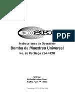 Instrucciones de Operación Bomba de Muestreo