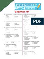 Examen 01 de Biologia Para Cuarto de Primaria