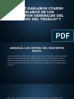 Principios Generales del Derecho.