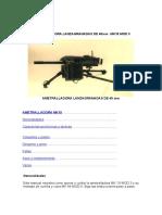 Manual Ametralladora Lanzagranadas de 40mm Mk19 Mod 3