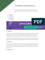 Los portales inmobiliarios más utilizados en España