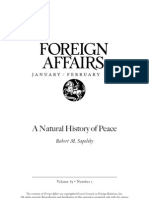 Natural History of Peace
