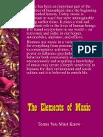 UNIT I- Basic Elements of Music