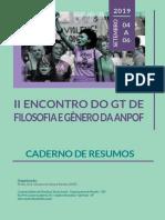 2019 II Gt Filosofia Genero - Caderno de Resumos