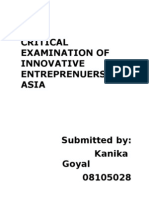 Innovative Entreprenuers in Asia