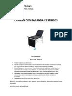 Camilla Con Baranda y Estribos