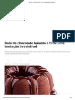 Bolo de Chocolate Húmido e Fofo_ Uma Tentação Irresistível