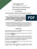 Resolución No 000015 Del 17 de Febrero de 2016