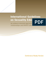 International Guidelines on Sexuality Education by UNESCO 2009