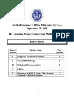 Medical Examiner audit