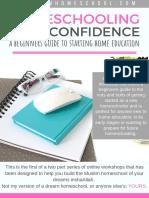 A Beginners Guide to Starting Homeschool Workshop Brochure