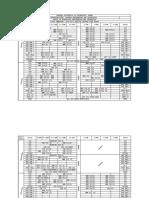 2018-2019 First Sem Final Timetable