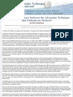 Alexander Technique and Feldenkrais Method