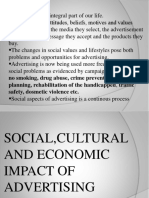 Social, Cultural and Economic Impact of Advertising