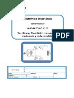 Lab03 - Rectificador Monofásico Controlado