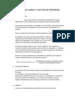 FACTOR DE CARGA Y FACTOR DE PERDIDA