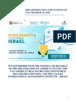 2019 OAS PAHO GIMI ScholarshipAnnouncement