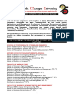 UMU Academic Programmes