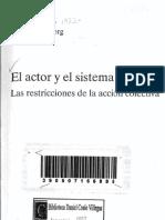 Crozier, Michel. El Actor y El Sistema_Capítulo 1.