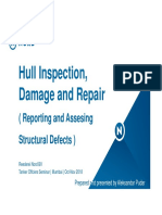 Hull Inspection Damage and Repair Report