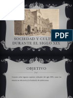 Sociedad y Cultura Durante El Siglo Xix