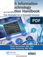 Health Information Technology Evaluation Handbook From Meaningful Use to Meaningful Outcome