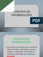 4. Fuentes de Información