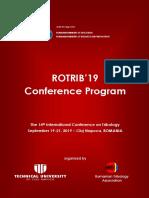 ROTRIB'19-Conference Program (10 Sept)