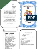 Programa Dia Del Maestro Ultimo 2019