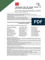 Guías para la Resucitación 2010 del Consejo Europeo de Resucitación