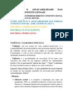 Eficácia e Aplicabilidade Das Normas Constitucionais