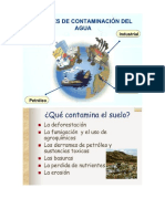 fuentes de contaminacion del agua