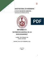 informe N°1 disribucion universal de microorganismos
