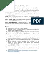 Emerging trends in analytics