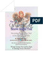 Full Snow Angel Tea Invitation