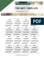 MBTI Template