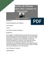 Herbolario de Plantas Medicinales Mas Usadas en Venezuela