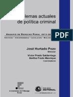 Problemas actuales de política criminal