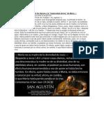 Agustín de Hipona y La Maternidad Divina de María