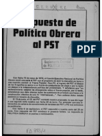 Respuesta de Política Obrera al PST (1974)