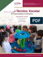 Consejo Técnico escolar. Primera Sesión Ordinaria / Educación Inicial