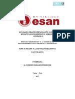Modelo de Plan de Mejora Para CEBE